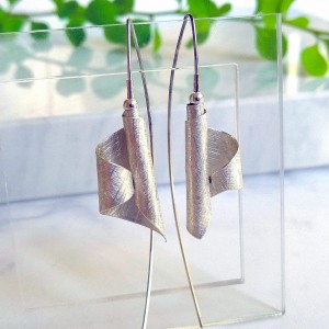 Long asymmetrical earrings - Silver