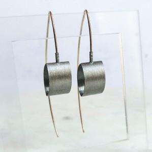 Silver modern minimalist earrings
